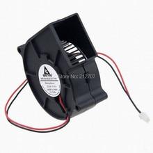 10pcs 7CM 75X30MM 70MM 24V 2Pin DC Cooler Small Blower Fan