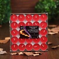 50 unids perfumadas velas parpadeo rojo aromaterapia velas para Navidad decoración romántica sin humo aroma velas cera té