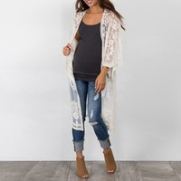 Maternity Clothings 2018 Women Cardigan Bohemian Sexy See Through Lace Embroidery Blouses Shirts Flare Sleeve Pregnancy
