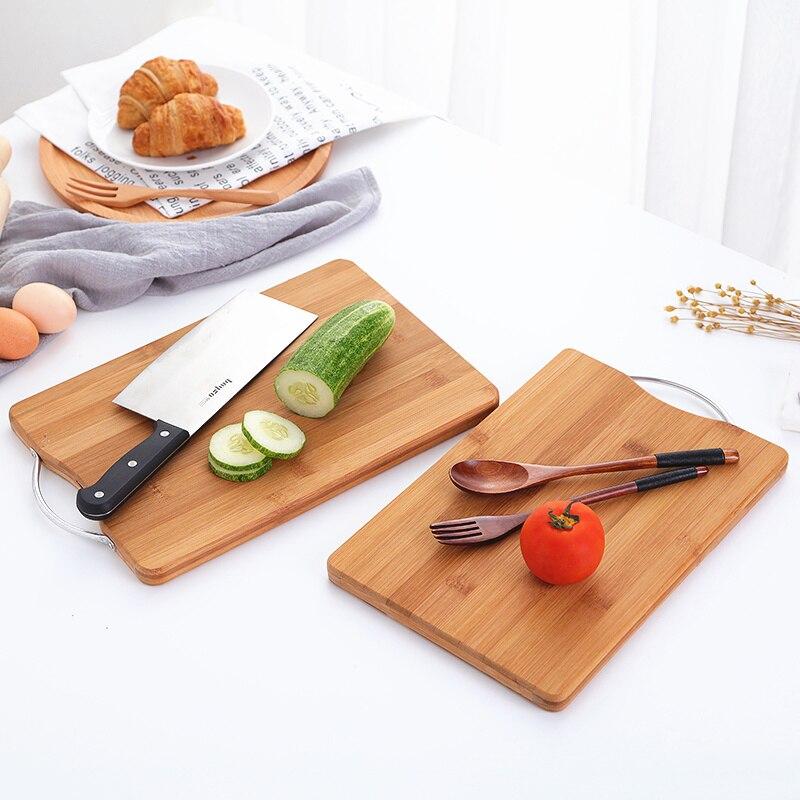 Diplomatisch Holz Hacken Blöcke Bambus Rechteck Hangable Schneiden Bord Durable Non-slip Küche Werkzeuge Zubehör Schneidebrett 1 Pc Haus & Garten