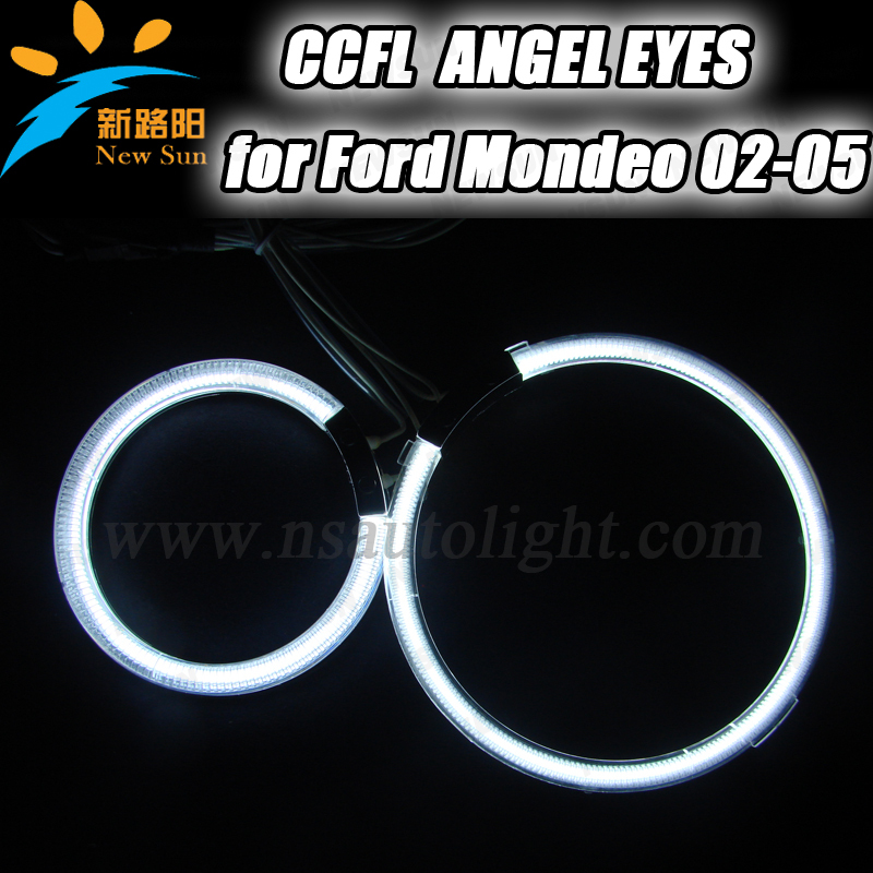 4PCS wholesale car ccfl angel eyes ring lighting for Mondeo 02-05 headlight ccfl halo ring kit angel eyes with 7colors available for honda odyssey 4th g rb3 rb4 chassis 2008 present excellent ultrabright headlight illumination ccfl angel eyes kit halo ring
