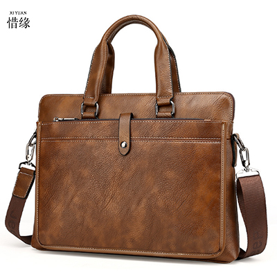 Cow Leather Men Briefcase Casual Vintage Men Crossbody Bag Bussiness Shoulder Messenger Bag Sac Hommes man handbag male tote bag vintage crossbody bag military canvas shoulder bags men messenger bag men casual handbag tote business briefcase for computer