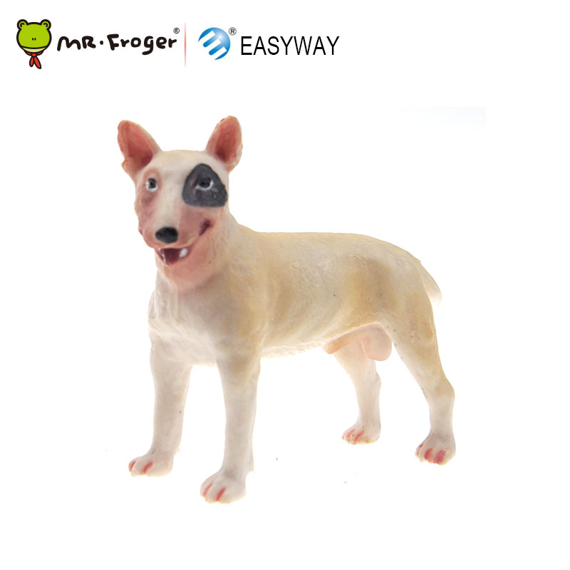 EASYWAY Bull Terrier Toys Figures Animal-Model Farm Hound Small Children Simulation
