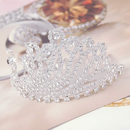 Hot Crystal Bridal Peacock Crown Comb For Wedding/Engagement Hair Accessories,Free Shipping