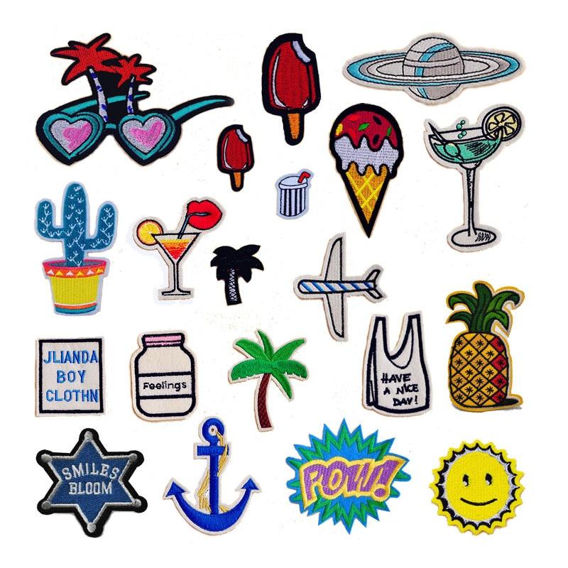 ᓂ1 unid muchos diseños elección bordado hierro en Parches ropa ...