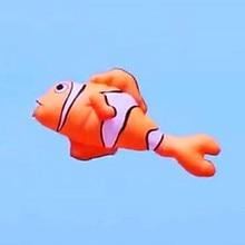 2,5 м летающая рыба воздушный змей мягкий воздушный змей Рипстоп Нейлоновая Ткань Подвеска змей катушка змей-Ветроуказатель Заводская Наружная игрушка пилот