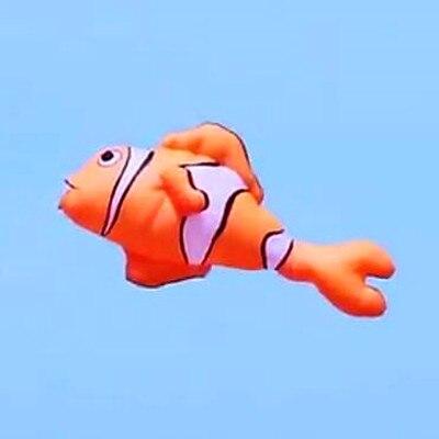 Livraison gratuite 2.5m cerf-volant poisson volant doux cerf-volant ripstop nylon tissu pendentif cerf-volant bobine chaussette à vent cerf-volant usine en plein air jouet pilote
