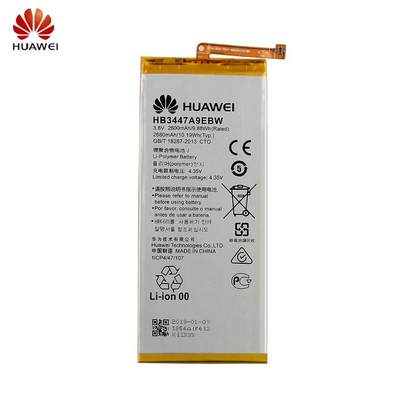 HuaWei Original HB3447A9EBW Battery For HuaWei P8 Genuine Replacement Phone Battery 2680mAh With Free Tools in Mobile Phone Batteries from Cellphones Telecommunications