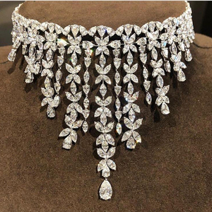 Image 3 - HIBRIDE Charm AAA Cubic Zirconia Fashion Jewelry Sets for Women Bridal Wedding Sets 2 Pcs Ring Necklace Set Women Gift N 1028