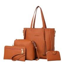 Marken Quaste Frauen handtaschen Hohe Qualität PU leder umhängetaschen 4 satz Weiblichen handtasche Messenger Crossbody taschen bolsos