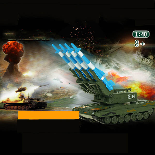US $34 79 40% OFF|Alloy Tank Model Air Defense Missile Model Ornaments  Alloy Rocket Gun Boy Simulation Gift Crawler Can Lunch Children Hobby  Toys-in