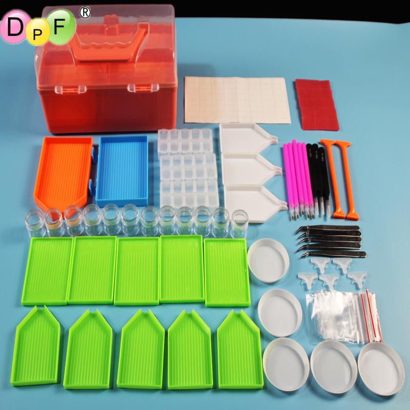 DPF 5D DIY Diamond Painting Tools Full Kits Diamond Painting Accessories Cross Stitch box Complet Cases DIY Convenient