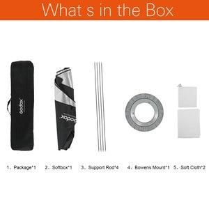 """Image 2 - Godox softbox 60*90cm 24 """"x 35"""" Portatile Rettangolare Studio Strobe Softbox con Bowens Mount per flash da Studio"""