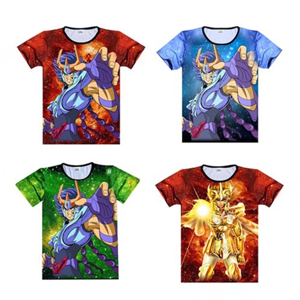 Cosplay  Episode Zero Saga Gold Saint Seiya T-shirt Knights Of The Zodiac 3d Printig Long Sleeve Cosplay Anime T-shirt