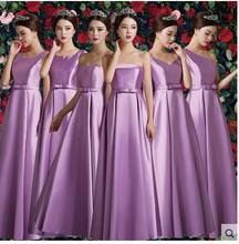 Bruidsmeisjes jurk2019 new satin 6 styles A-Line Floor-Length lavender blue  s light blue cheap bridesmaid dresses under 50 8a8540e37761