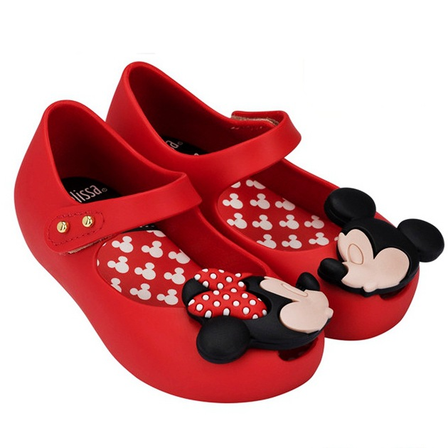 Mini Girls Shoes Mini Twins Mouse New Style Kid Shoe Ultragirl Sweet Beach Sandal Cute Mouse Rivet Belt Slipper(China)
