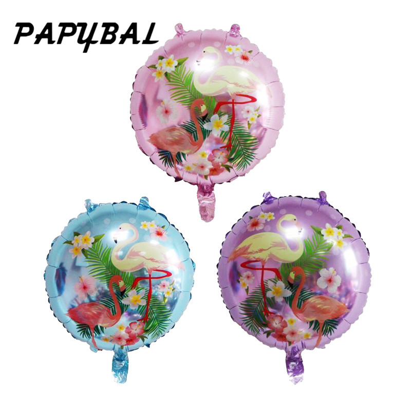 10pcs 18inch Flamingo Aluminum Foil Inflatable Helium Balloon Kids Adult Baloons Beach Pool Birthday Party Decoration Supplies