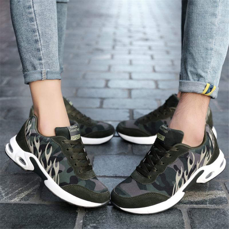 Running Shoes Air Cushion Women and men Sports Shoes Breathable Mesh Max Fminines Outdoor Sneakers Army fan camouflage shoes