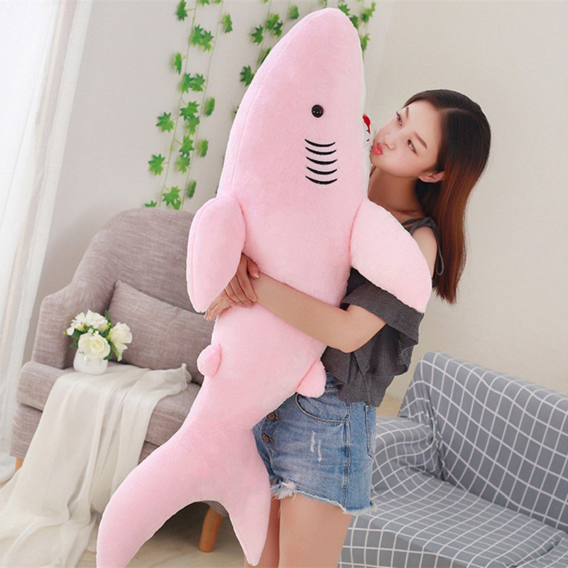 50/70/80cm Giant Shark Plush Shark Whale Stuffed Fish Ocean Animals Kawaii Doll Toys For Children Kids Cartoon Toy Baby's Gift image