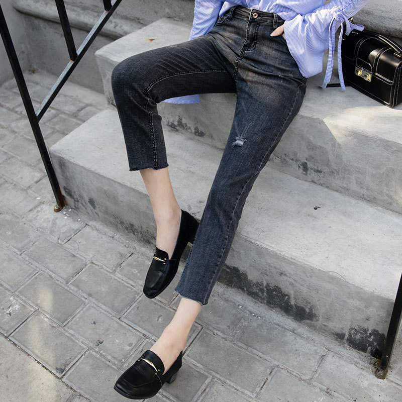 2018 new befree boyfriend women jeans woman skinny jeans with Middle-waisted slim denim pants femme ladies sexy flared jeans
