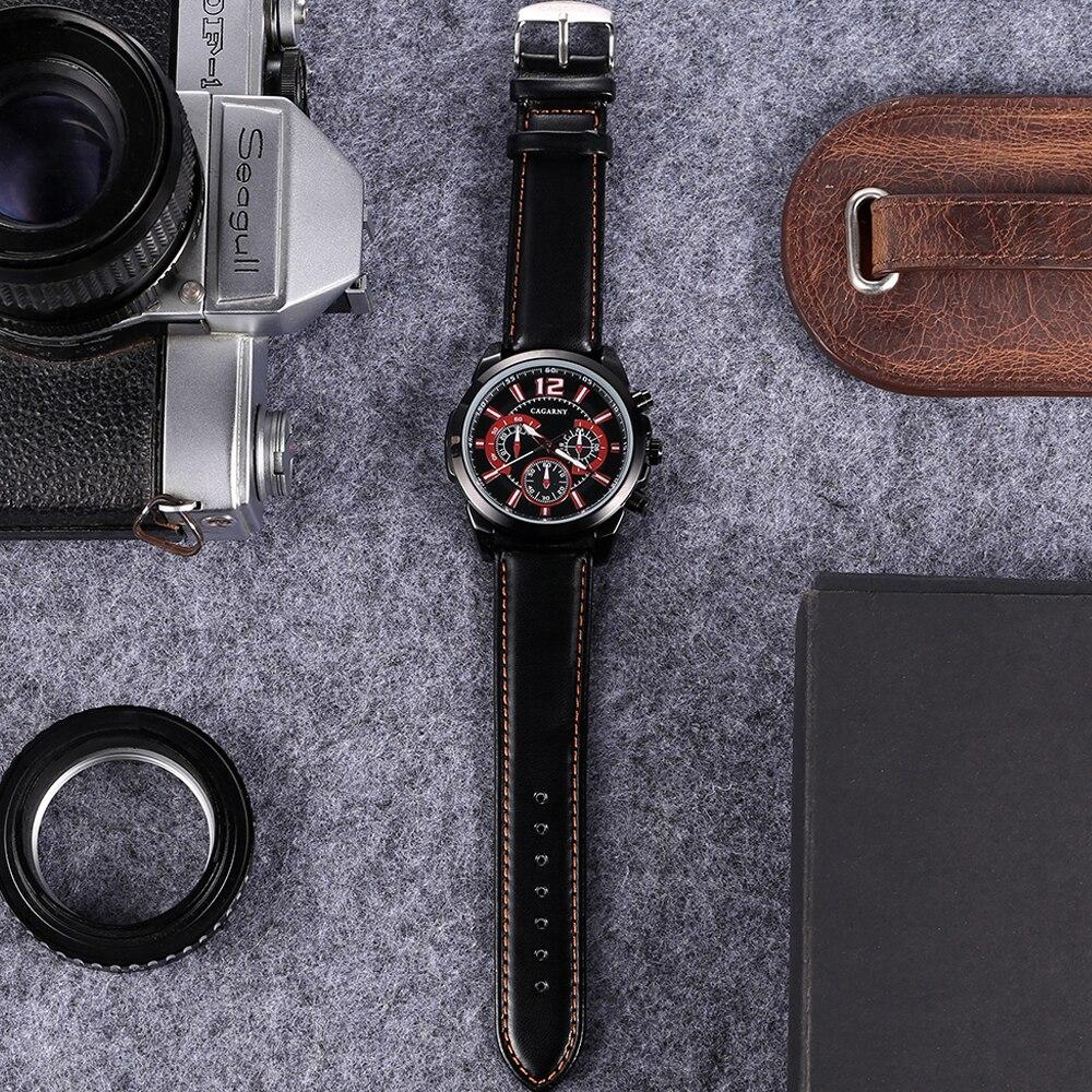 quartz wristwatches leather strap sports watches casual mens wrist watch black case 1 (2)
