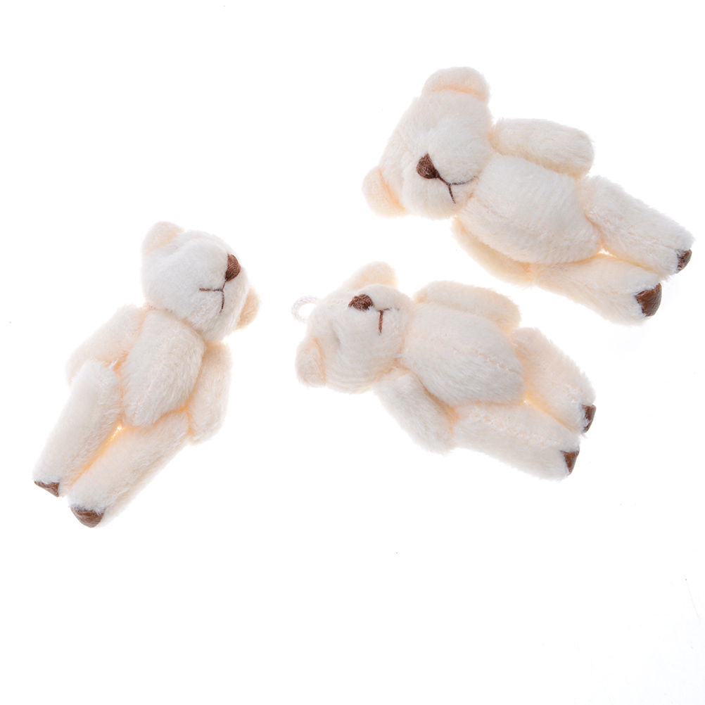 New 3Pcs Kawaii Small Bears Plush Soft Toys For Children Girlfriend Gifts Wedding Bouquet Wholesale