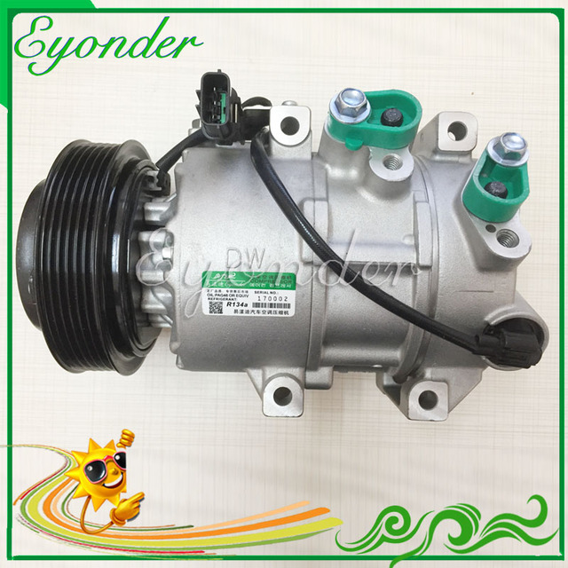 US $180 0 |Auto AC Air Conditioning Compressor DOOWON DVE16 Pulley for  Hyundai IX35 2 0 4WD Spotage 2 0 97701 2S500 977012S500 2009 2010-in Fans &