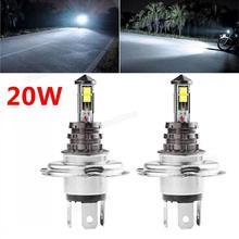 цена на 2x 20W H4 LED Bulb XTE Car Fog Light DC 12V/24V 360 Degree 720lm White Headlight 6000K Fog Lamps