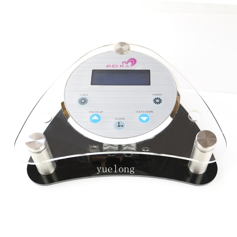1Pro Digital LCD Tattoo Power Supply Permanent Makeup Machine Power Supply With Foot Pedal Clip Cord Power Cable Yuelong shop цены онлайн