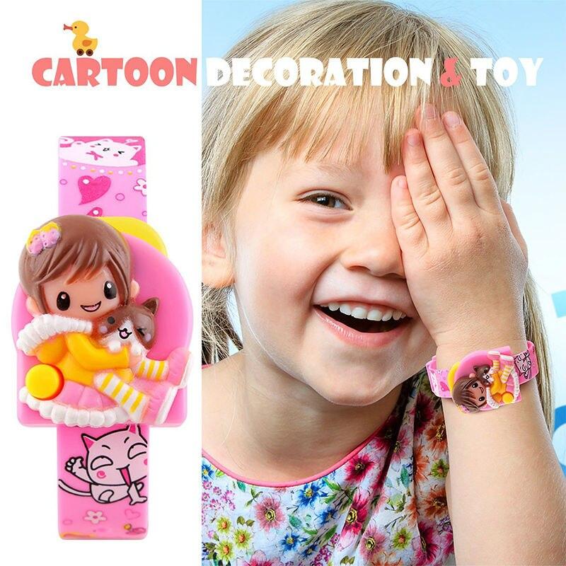 SKMEI Cartoon Watch Kids Creative Children's Digital Watches Kids Girls Students Doll Toys Watch Body Electronic Wristwatch Pink