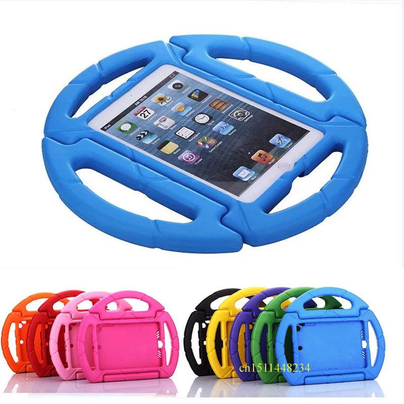 for iPad mini 4 Tablet Cover, Fashion cartoon case, Children Protection Case For ipad mini 2 mini 3 EVA silicone cover+Stylus