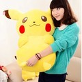 huge 80cm Pokemon Pikachu plush toy doll throw pillow w5335