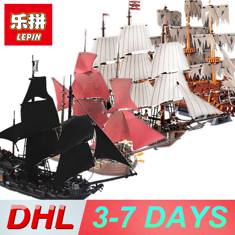Lepin pirates of the caribbean Lepin 16006 16009 16016 22001 Building Blocks toys Bricks Legoing 4195 70618 10210 4184 lepin 22001 pirates series the imperial war ship model building kits blocks bricks toys gifts for kids 1717pcs compatible 10210