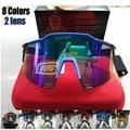 8 цвет 2 объектив Велосипедные очки мужчин и женщин 2016 Велоспорт очки MTB Велосипед Бег Рыбалка спортивные очки велосипедные очки очки