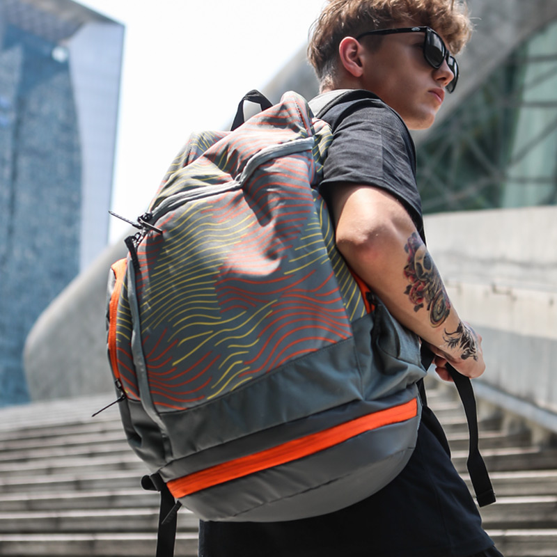Likros Personality Bucket Large Capacity Backpack Mens Fashion Trend Fitness Basketball Bag LK8800