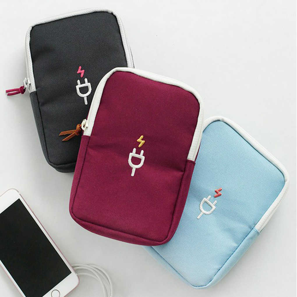 Useful Accessories Travel Carrying Organizer Case Storage Bag For Various USB Cable
