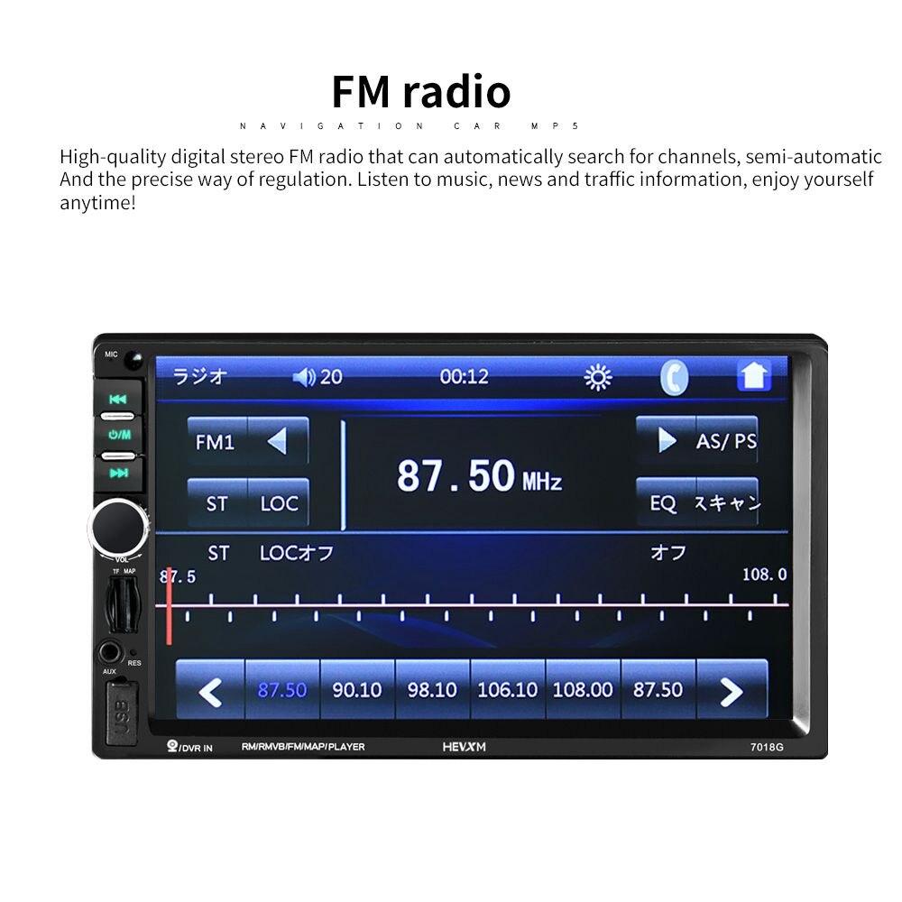 7018G 2 Din 7 pouces HD écran tactile autoradio multimédia lecteur MP5 Navigation GPS avec caméra et moyen orient cartes Bluetooth A - 6