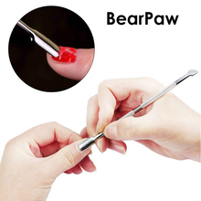 BearPaw Nail Art tools Nail Cuticle Pusher Stainless steel cuticle pusher trimmer remover pedicure manicure nail art tools