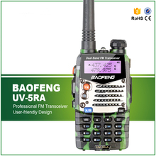 Oliver Green Baofeng UV-5RA Walkie Talkie VHF UHF Dual Band Two Way Radio UV 5R 5W 128CH FM VOX Dual Display with Free Headset