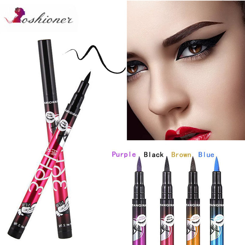 4 Colors Black 36H  Eyeliner Pencil Waterproof Pen Precision  Long-lasting Liquid Eye Liner Smooth Make Up Tools