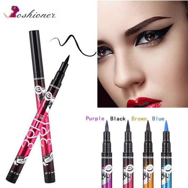 4 colores negro 36 H delineador de ojos lápiz impermeable pluma de precisión de larga duración líquido delineador de ojos suave herramientas de maquillaje