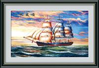 New Sailboat Cross Stitch Handmade Crafts Unfinished Rhinestones Mosaic Embroidery Diy 5d Diamond Painting Home Decor