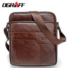 OGRAFF Men messenger bags genuine leather bag casual small business vintage luxury handbag designer shoulder crossbody bag men