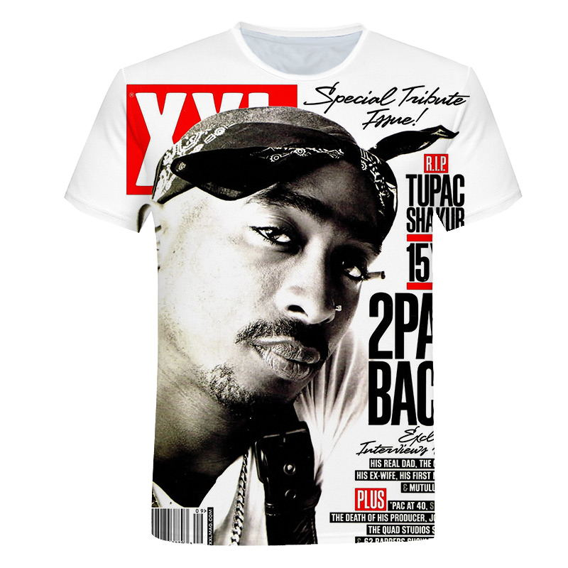 Hip Hop   T  -  shirt   Men 2019 New Fashion 3d   t  -  shirt   Print Rapper Tupac Amaru Shakur / 2Pac Summer Tops Tees Loose   t     shirt   men M-5XL