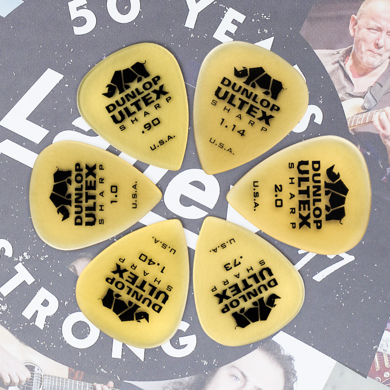 1 pc Dunlop Guitar Picks Ultex Standard Sharp Triangle Plectrum Mediator 0 6mm 1 14mm Guitar Picks Guitar Parts Accessory Picks in Guitar Parts Accessories from Sports Entertainment