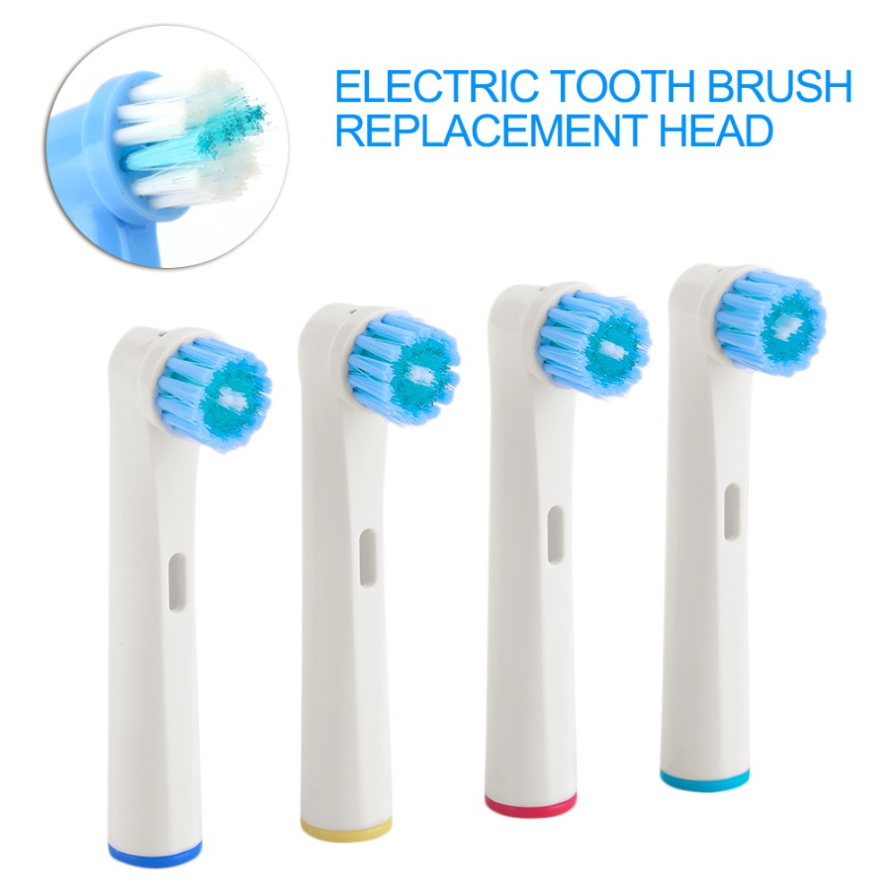 4pcs/pack  EB-17D Replaceable Electric Toothbrush Heads EB-17D Bright Fits Oral Tooth Brush Replacement Tips Clean Tooth