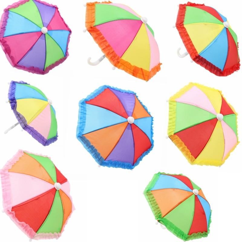 New Style Mini Umbrella Rain Gear For 18'' Girl Dolls Accessory Birthday Gift For Children