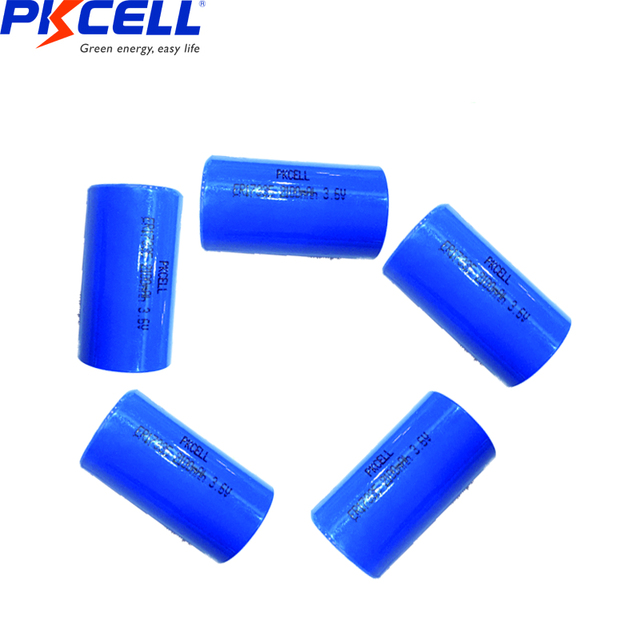 5pcs ER17335 ER17335S ER 17335 ER2/3A 3.6V Li SOCl2 batteria al litio 2/3A batterie 17*33.5 MILLIMETRI Superiore a CR17335 Batterie