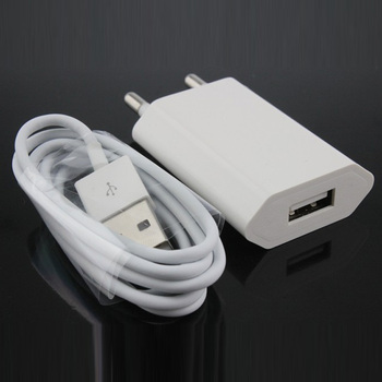 2ebef3ebaa0 2 in1 USB AC adaptador de corriente de la UE de pared de carga del cargador  del adaptador y Original 8-Pin Cable de carga USB para iphone 7 6 plus 6 s  5 5 X ...