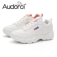 Audorci 2018 Spring Fashion Brand Casual Shoes Flats Women Platform Shoe Comfortable Breathable Woman Sneakers Size
